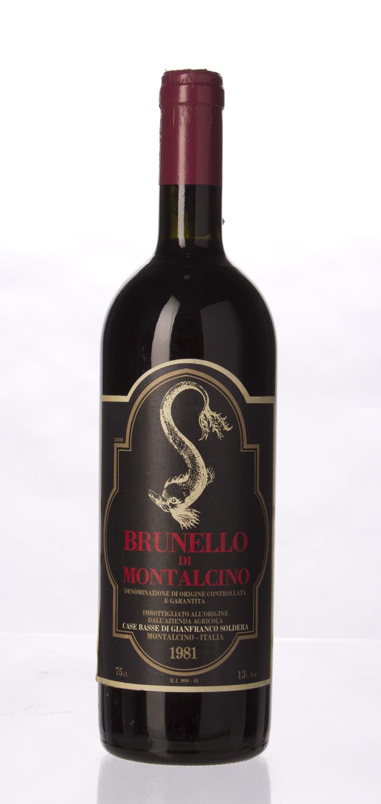 Soldera Brunello di Montalcino Case Basse 1981, 750mL () from The BPW - Merchants of rare and fine wines.