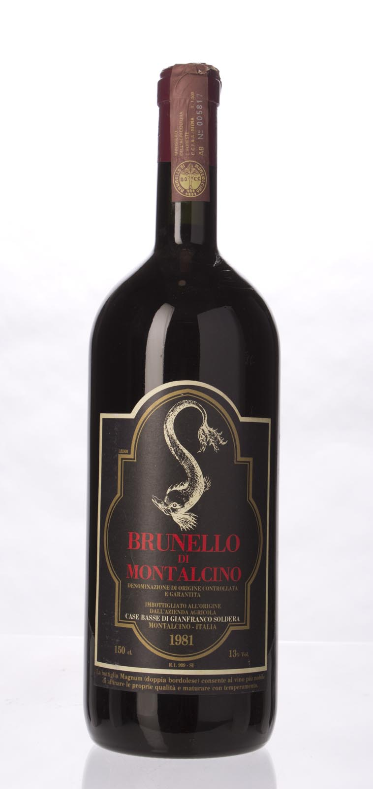 Soldera Brunello di Montalcino Case Basse 1981, 1.5L () from The BPW - Merchants of rare and fine wines.