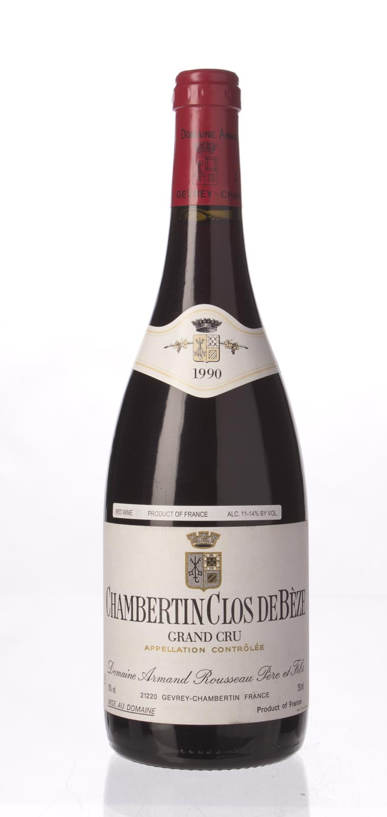 Domaine Armand Rousseau Chambertin Clos de Beze 1990, 750ml (BH93, WS95) from The BPW - Merchants of rare and fine wines.