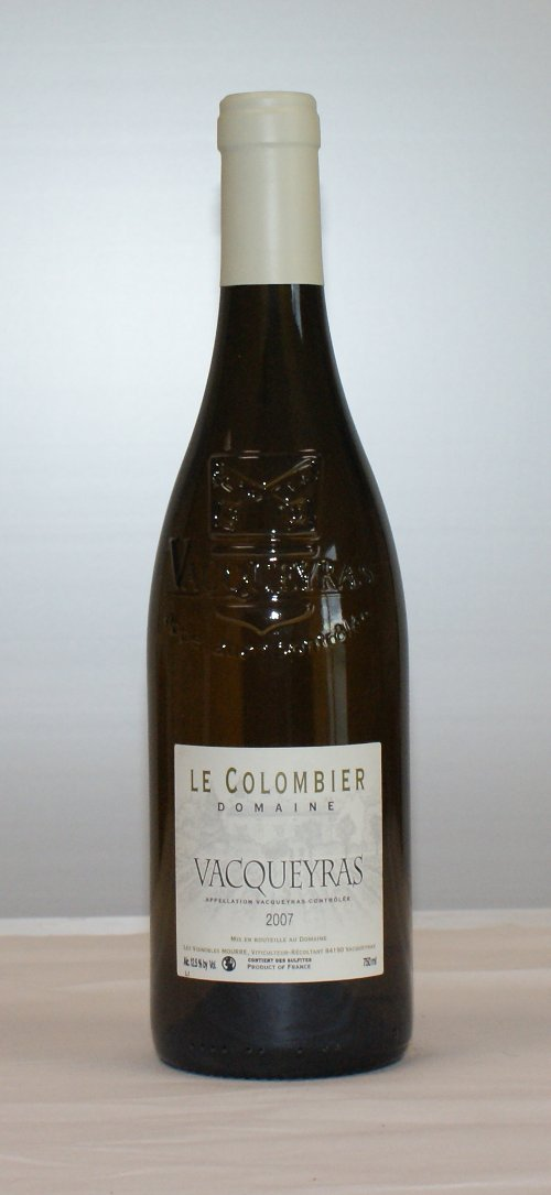 Domaine du Colombier Vacqueyras Blanc 2011, 750ml (WS90) from The BPW - Merchants of rare and fine wines.