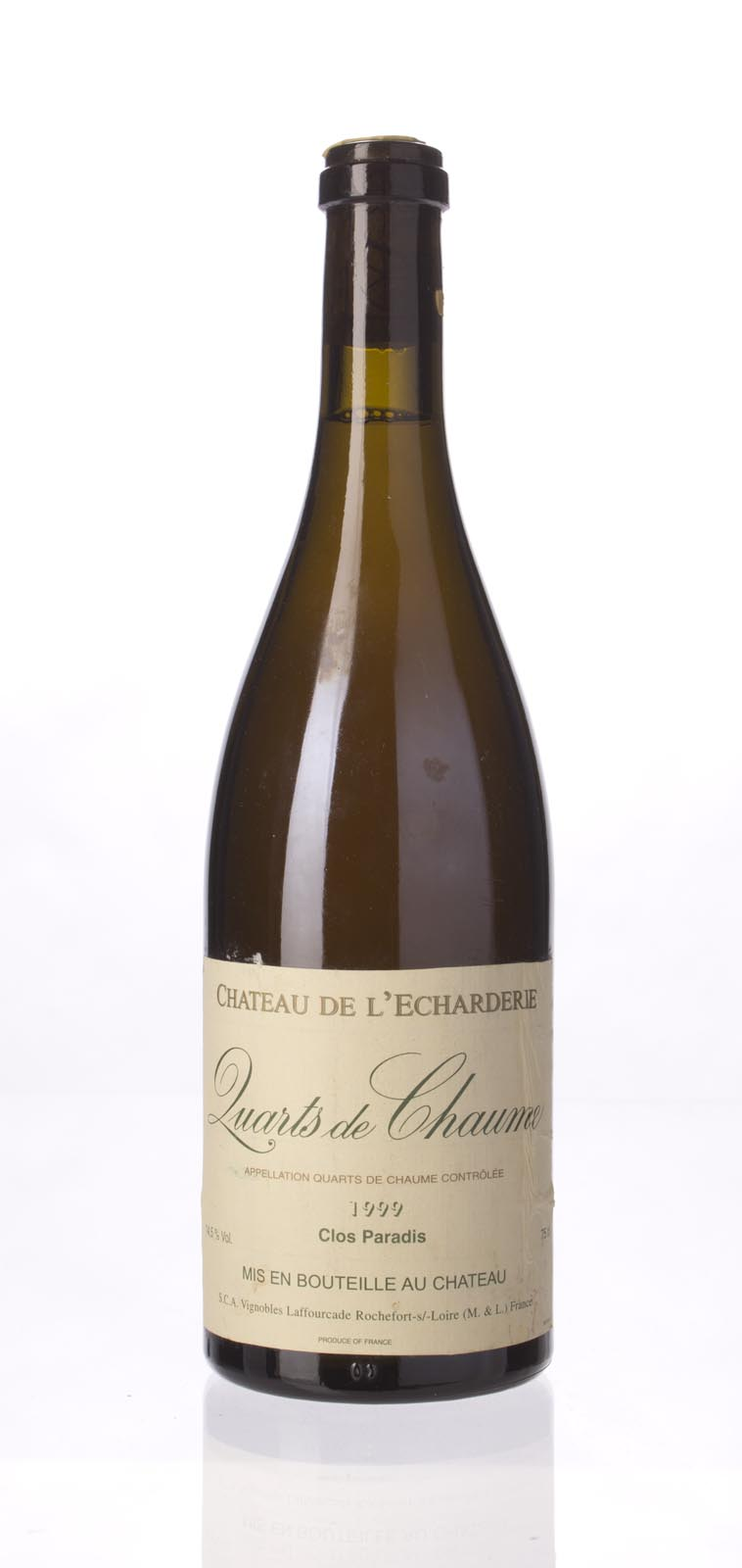 Chateau de L`Echarderie Quarts de Chaume Clos Paradis 1999, 750mL () from The BPW - Merchants of rare and fine wines.