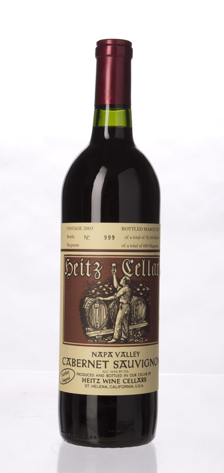 Heitz Cabernet Sauvignon Martha`s Vineyard 2003,  () from The BPW - Merchants of rare and fine wines.