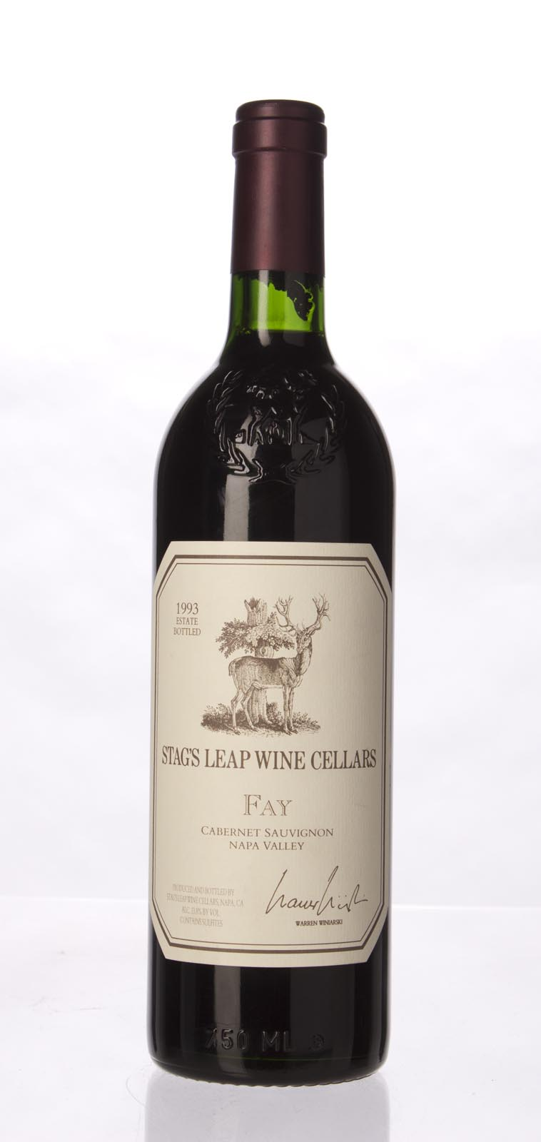 Stag`s Leap Wine Cellars Cabernet Sauvignon Fay Vineyard 1993, 750mL (WS93) from The BPW - Merchants of rare and fine wines.