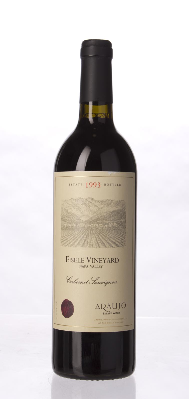 Araujo Estate Cabernet Sauvignon Eisele Vineyard 1993, 750mL (WA96) from The BPW - Merchants of rare and fine wines.
