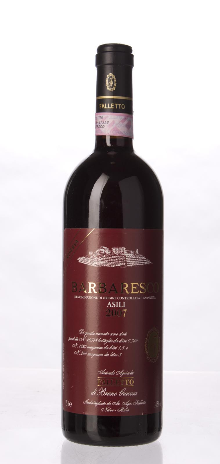 Bruno Giacosa Barbaresco Asili Riserva Red Label 2007,  (WA97, ST97) from The BPW - Merchants of rare and fine wines.