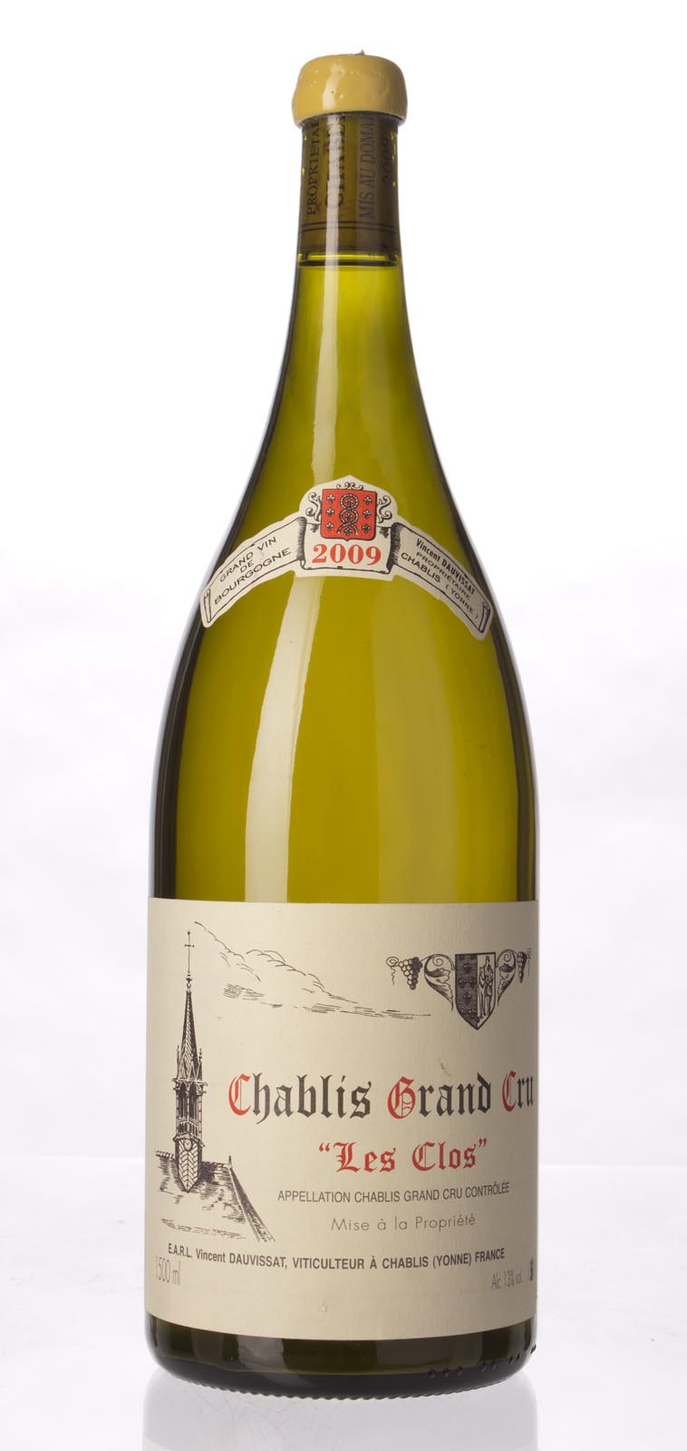 Domaine Vincent Dauvissat Chablis les Clos 2009, 1.5L (BH95, ST95+) from The BPW - Merchants of rare and fine wines.