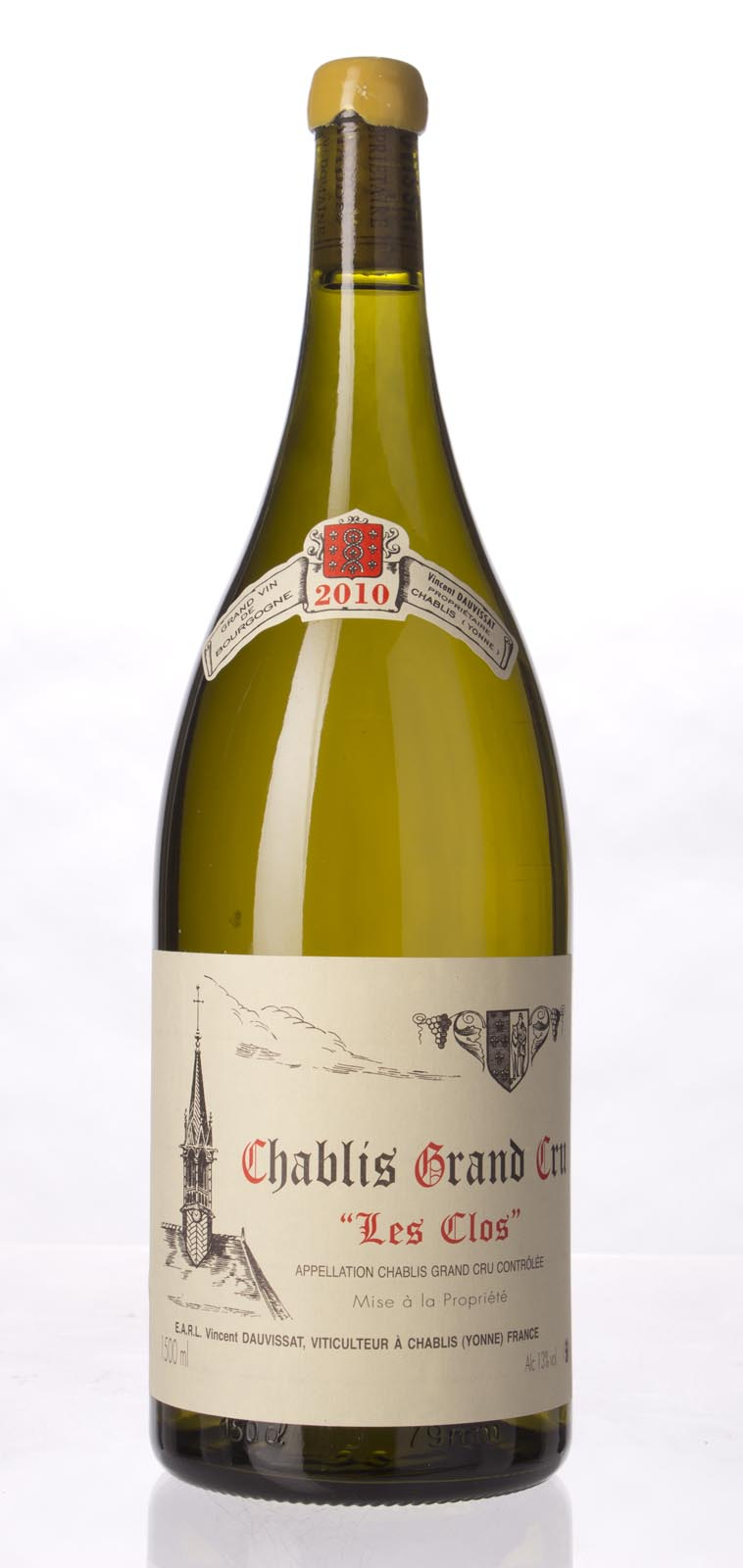 Domaine Vincent Dauvissat Chablis les Clos 2010, 1.5L (BH96, ST97+) from The BPW - Merchants of rare and fine wines.