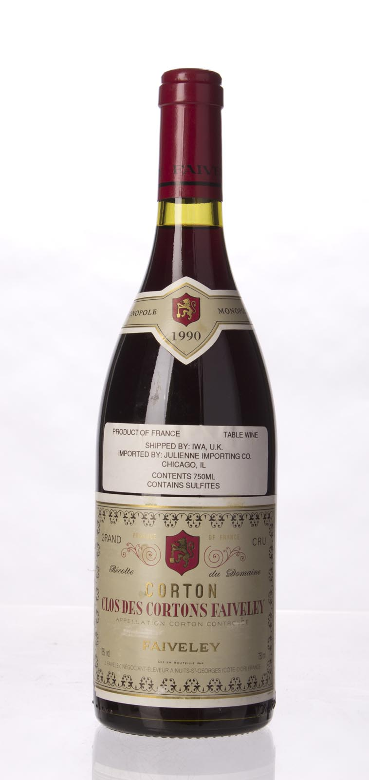 Faiveley Corton Clos des Cortons 1990, 750mL (WA93) from The BPW - Merchants of rare and fine wines.