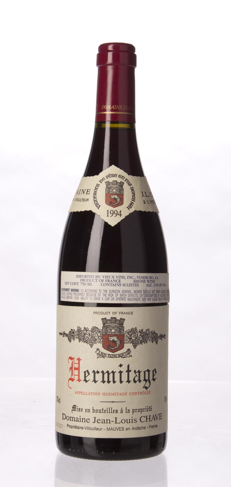 J.L. Chave Hermitage 1994, 750mL (WA93, ST93, WS94) from The BPW - Merchants of rare and fine wines.