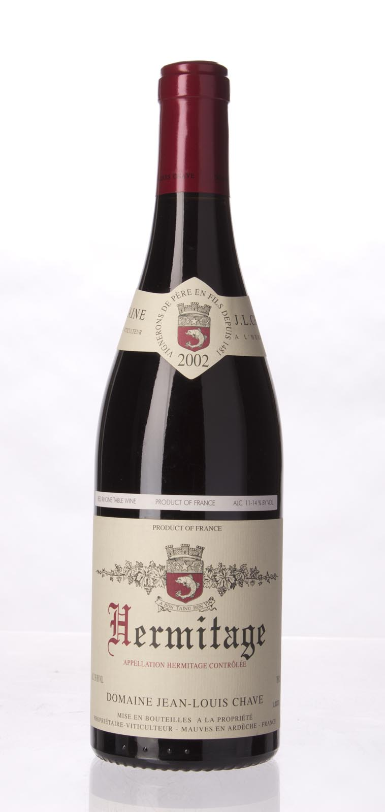 J.L. Chave Hermitage 2002, 750mL (WA91-94, WS92) from The BPW - Merchants of rare and fine wines.