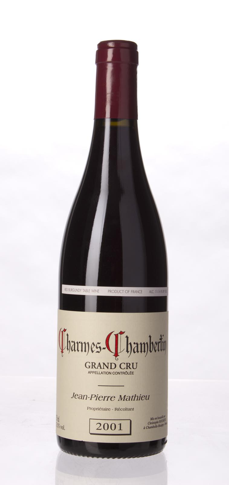 Jean Pierre Mathieu Charmes Chambertin 2001, 750mL () from The BPW - Merchants of rare and fine wines.