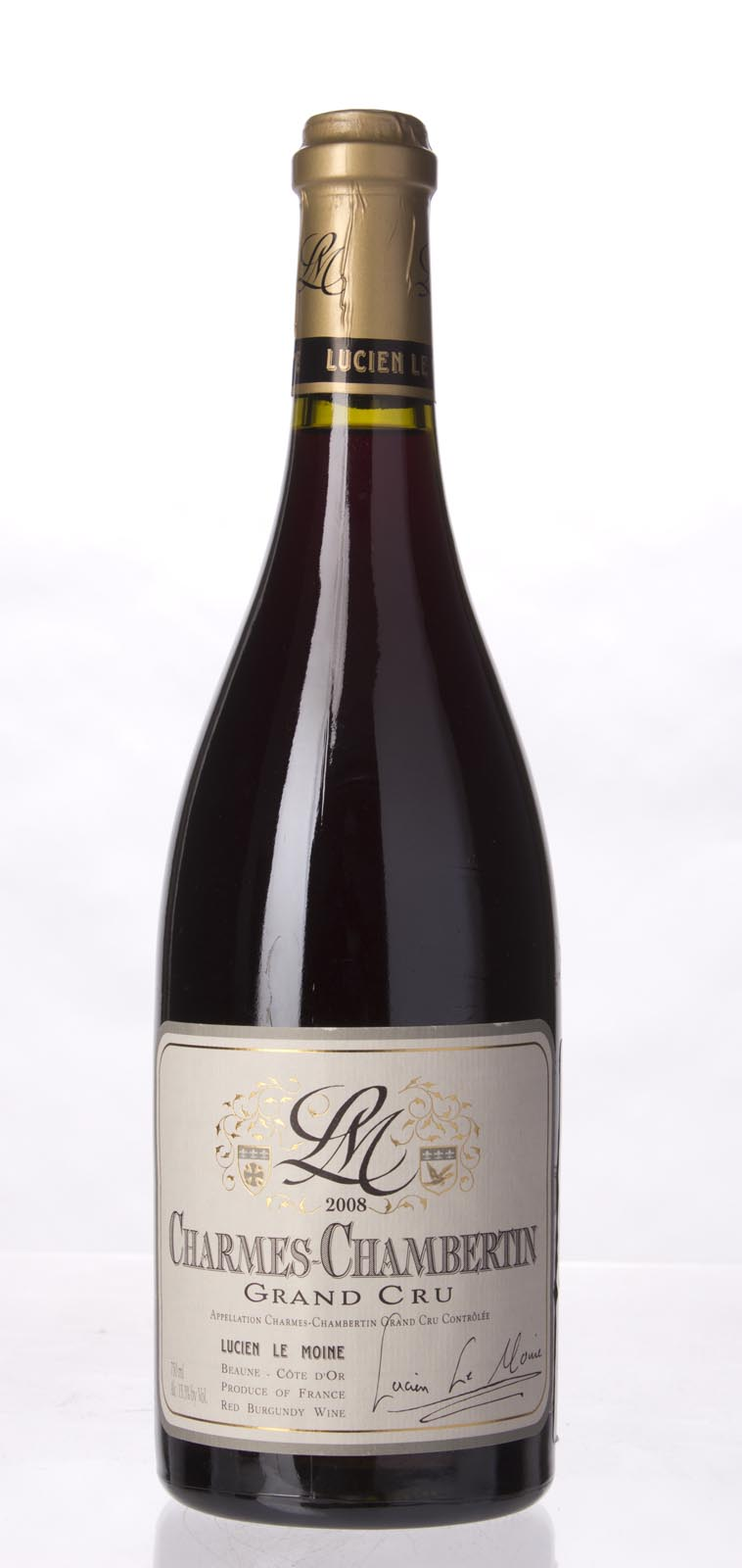 Lucien le Moine Charmes Chambertin 2008, 750mL (WA93-94, ST94, WS93) from The BPW - Merchants of rare and fine wines.