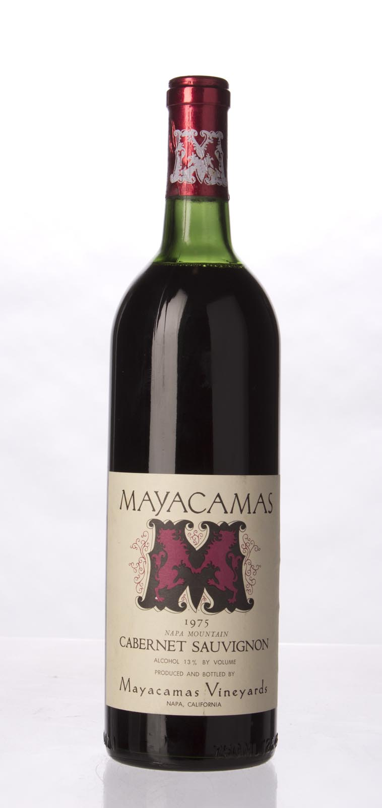 Mayacamas Cabernet Sauvignon 1975, 750mL () from The BPW - Merchants of rare and fine wines.