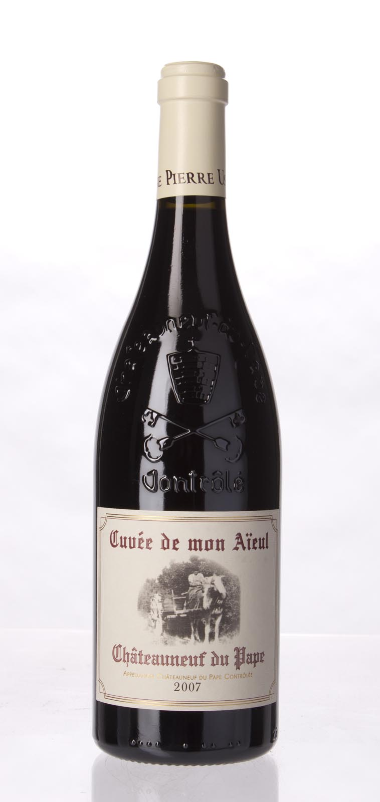 Pierre Usseglio Chateauneuf du Pape Cuvee de Mon Aieul 2007, 750mL (WA100) from The BPW - Merchants of rare and fine wines.