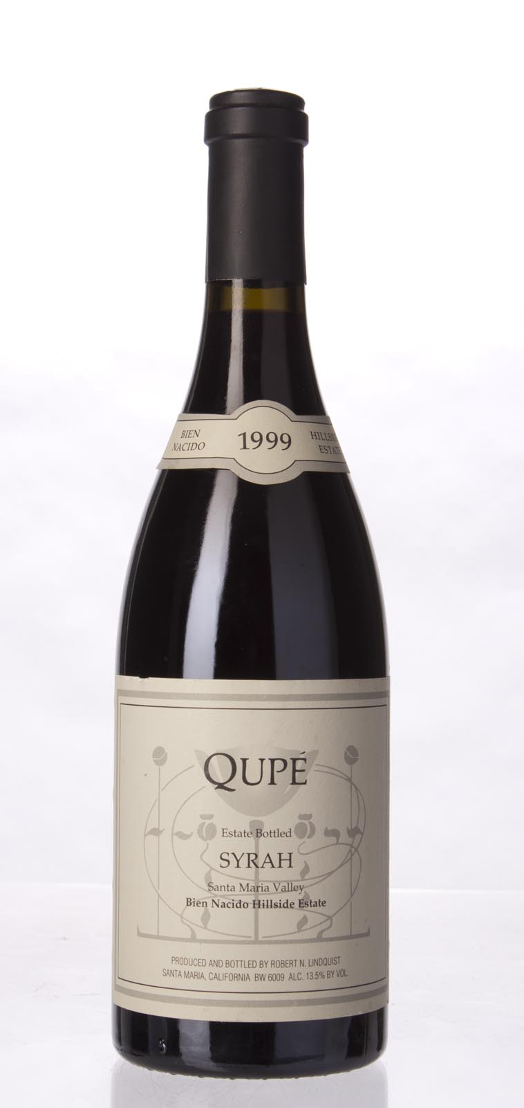 Qupe Syrah Bien Nacido Vineyard Hillside Estate 1999, 750mL () from The BPW - Merchants of rare and fine wines.