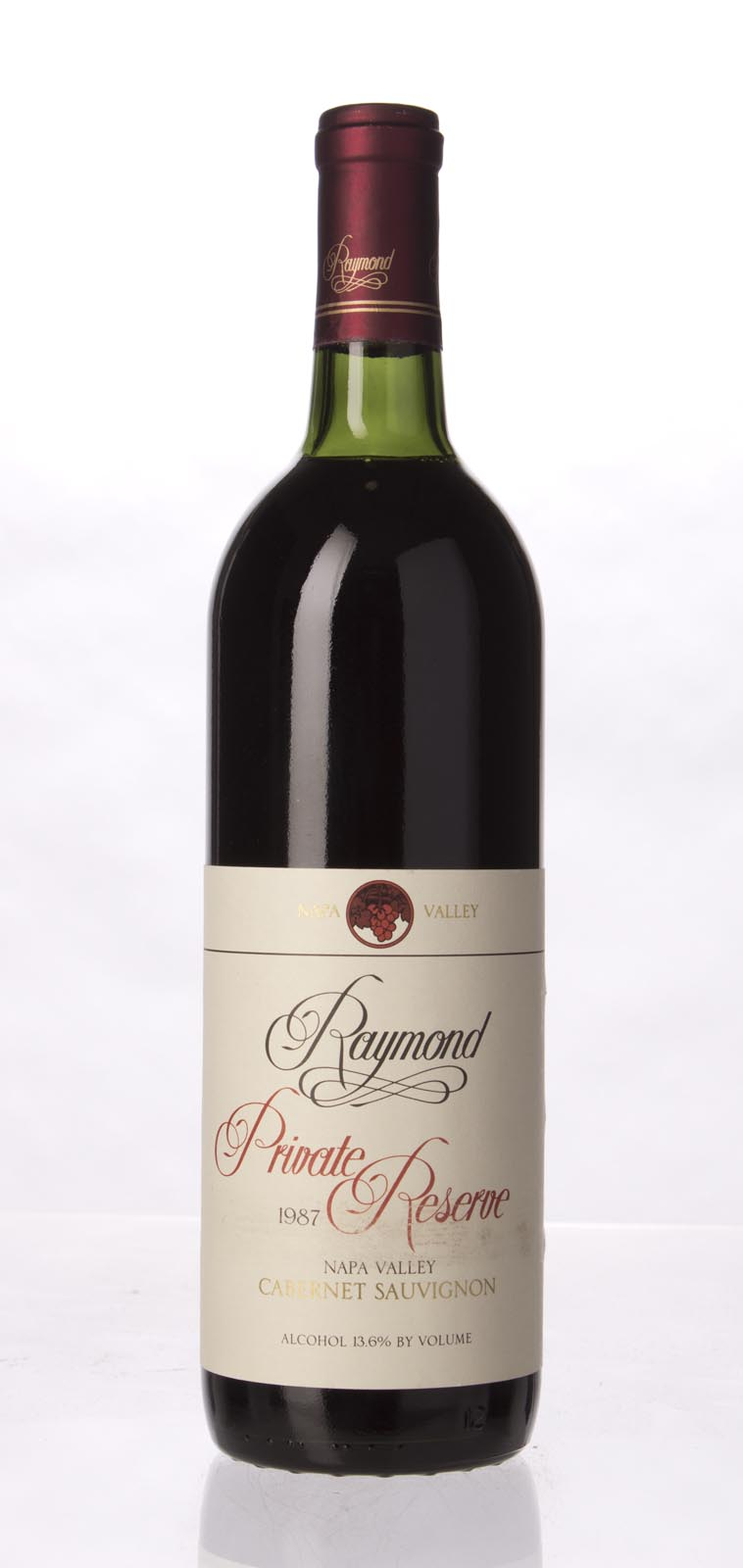 Raymond Cabernet Sauvignon Private Reserve 1987, 750mL () from The BPW - Merchants of rare and fine wines.