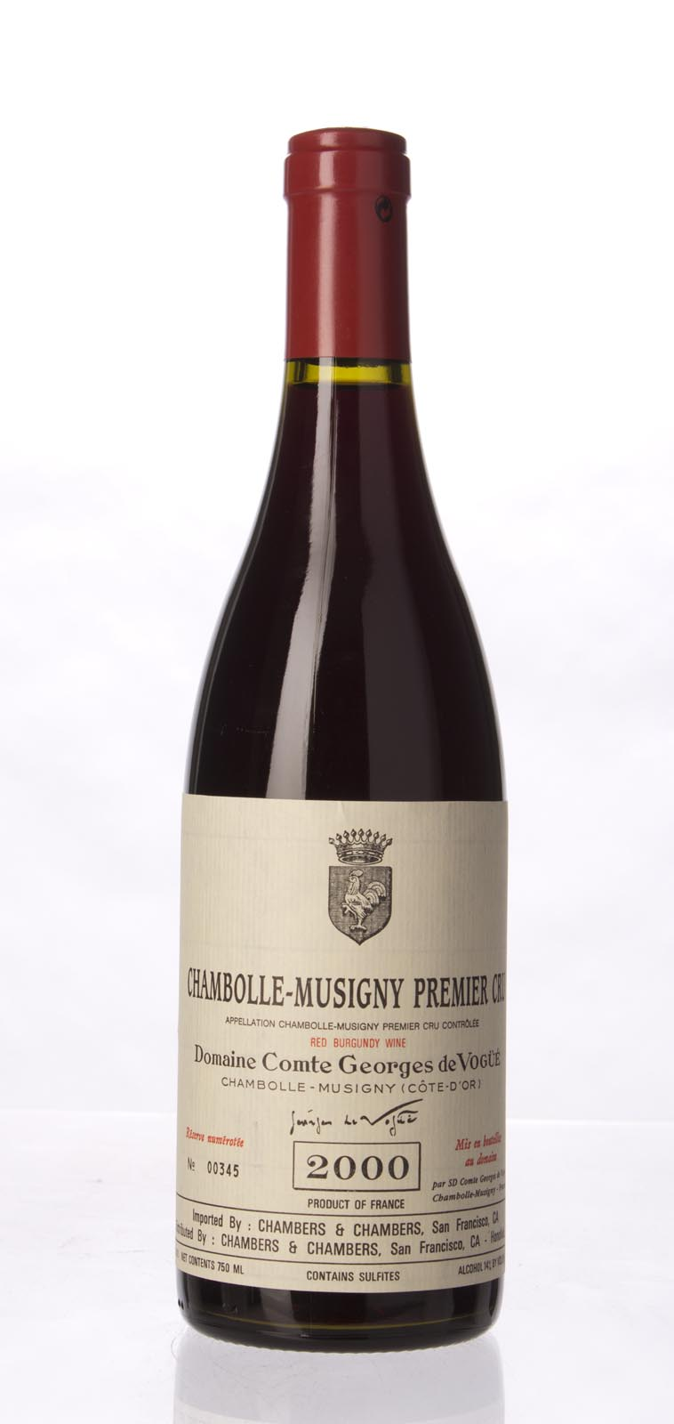 Comte de Vogue Chambolle Musigny 1er Cru 2000, 750mL (ST90) from The BPW - Merchants of rare and fine wines.