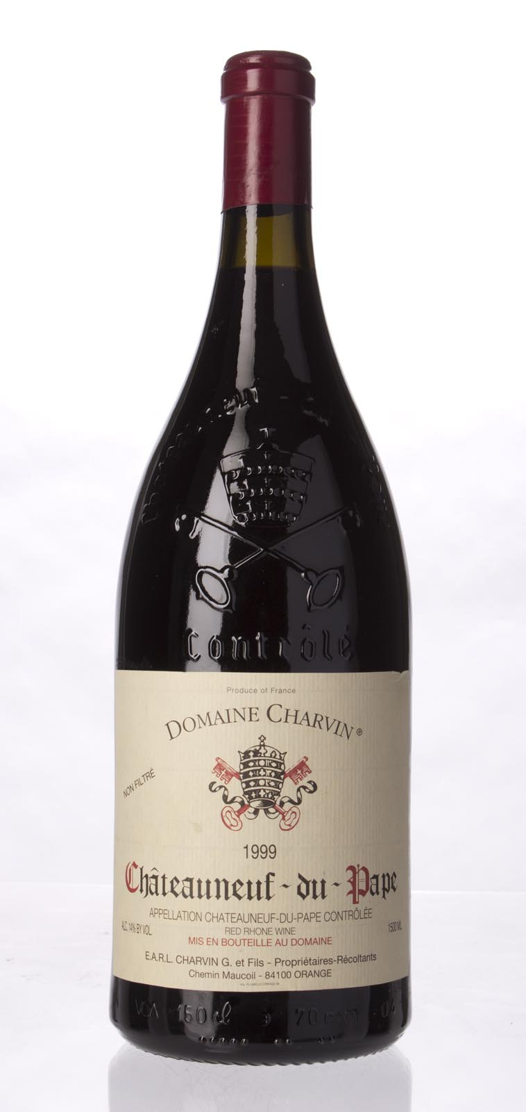 Domaine Gerard Charvin Chateauneuf du Pape 1999, 1.5L (WA92) from The BPW - Merchants of rare and fine wines.