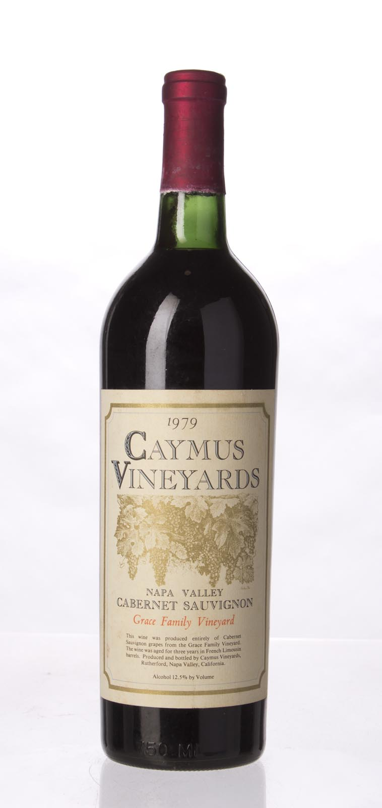 Caymus Cabernet Sauvignon Grace Family Vineyard 1979, 750mL () from The BPW - Merchants of rare and fine wines.