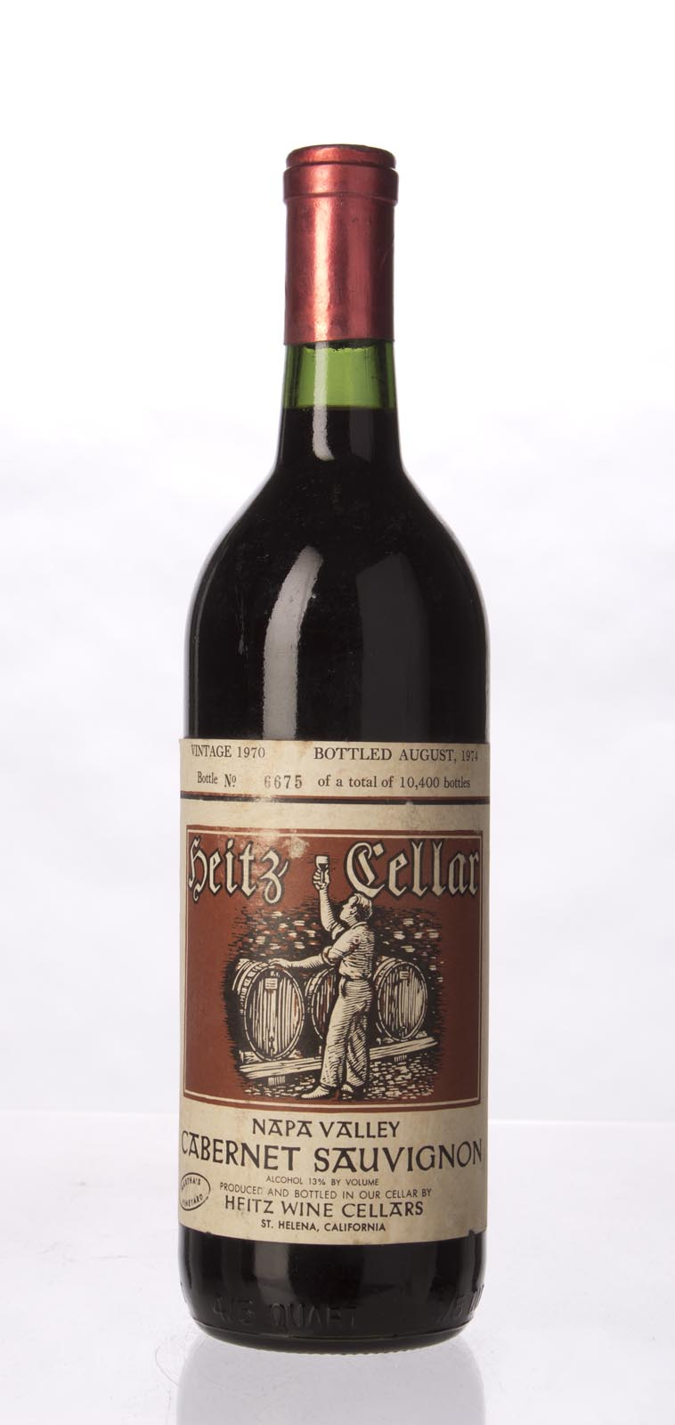 Heitz Cabernet Sauvignon Martha`s Vineyard 1970, 750mL () from The BPW - Merchants of rare and fine wines.