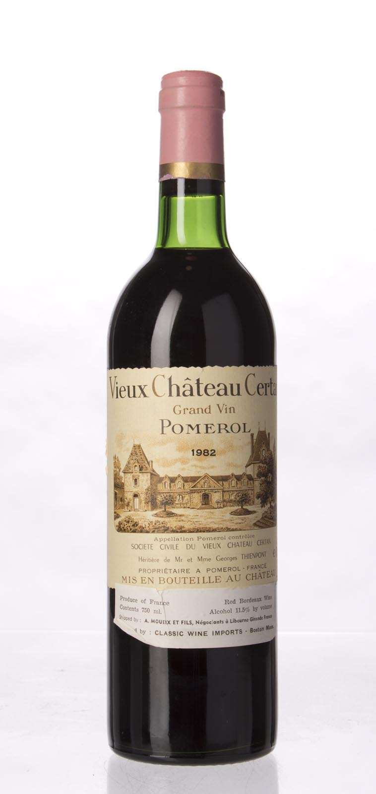 Vieux Chateau Certan 1982, 750ml (WA93, ST92, WS91) from The BPW - Merchants of rare and fine wines.