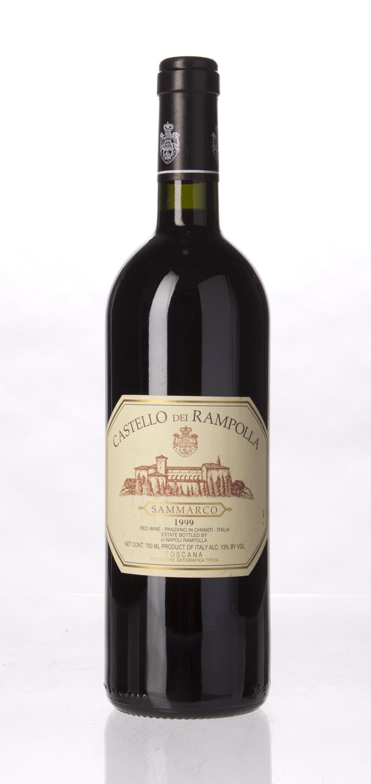 Castello dei Rampolla Sammarco 1999, 750mL (WA93, WS92) from The BPW - Merchants of rare and fine wines.