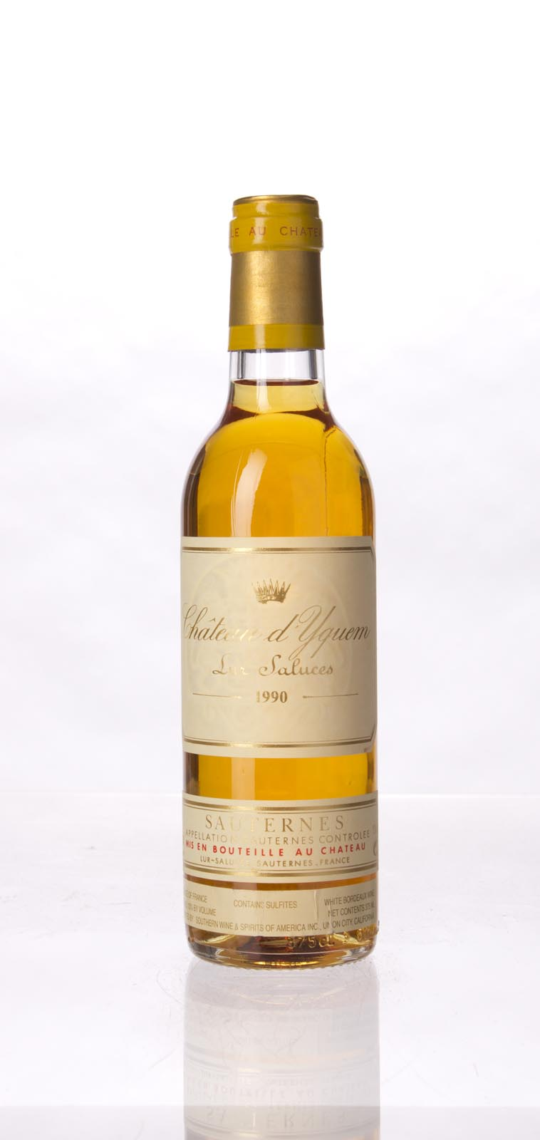 Chateau d`Yquem 1990, 375mL (WA99, WS97) from The BPW - Merchants of rare and fine wines.