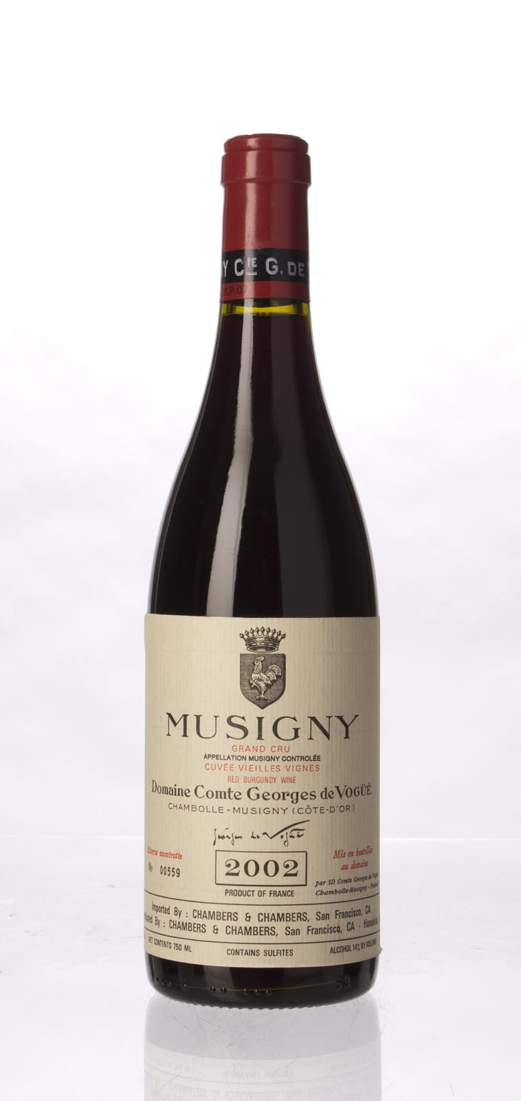 Comte de Vogue Musigny Vieilles Vignes 2002, 750mL (BH96, WA97-99, ST96) from The BPW - Merchants of rare and fine wines.