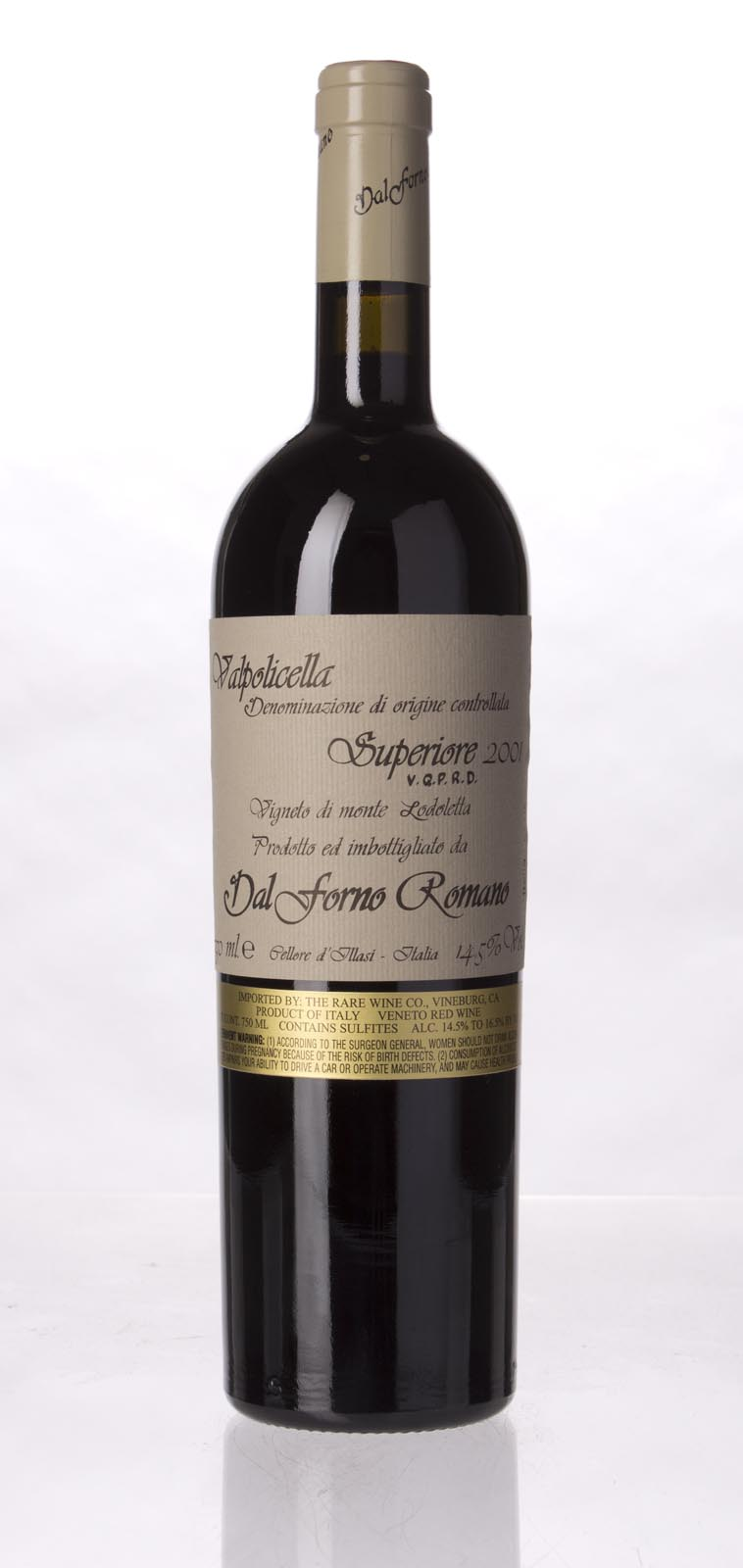 Dal Forno Romano Valpolicella Superiore 2001, 750mL (WS91) from The BPW - Merchants of rare and fine wines.