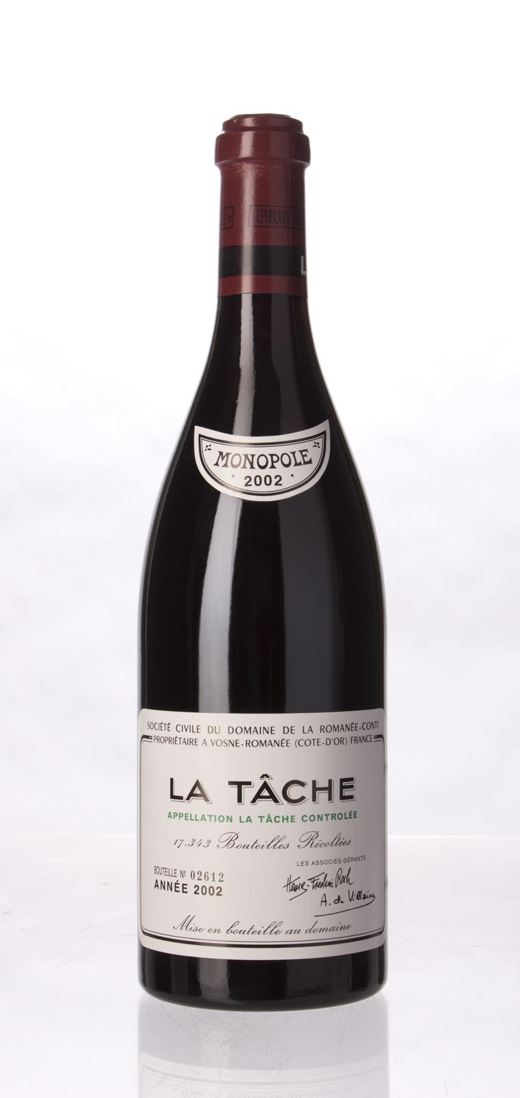 Domaine de La Romanee Conti la Tache 2002, 750mL (BH96, ST96, WS96) from The BPW - Merchants of rare and fine wines.