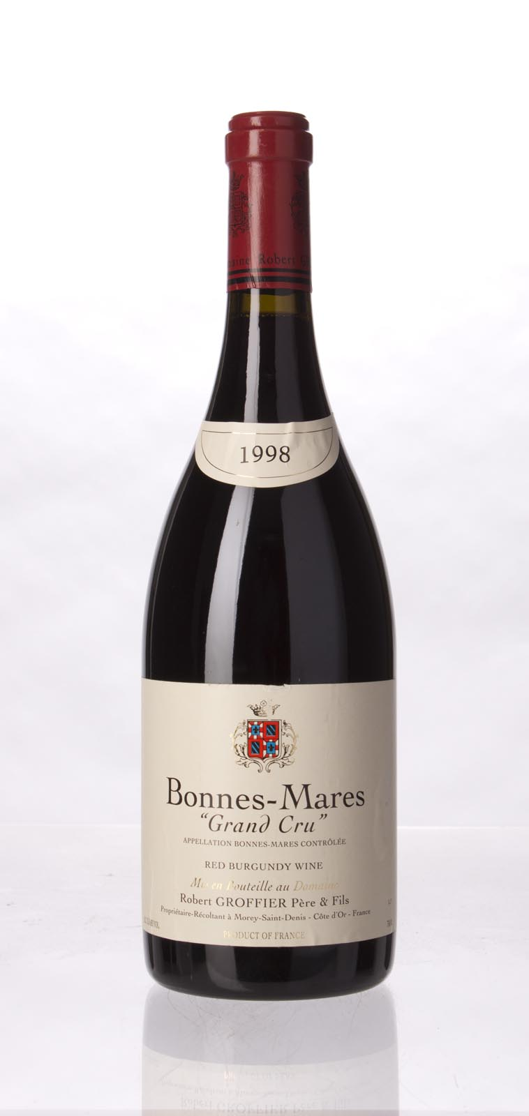 Domaine Robert Groffier Bonnes Mares 1998, 750mL (ST93, WS93) from The BPW - Merchants of rare and fine wines.
