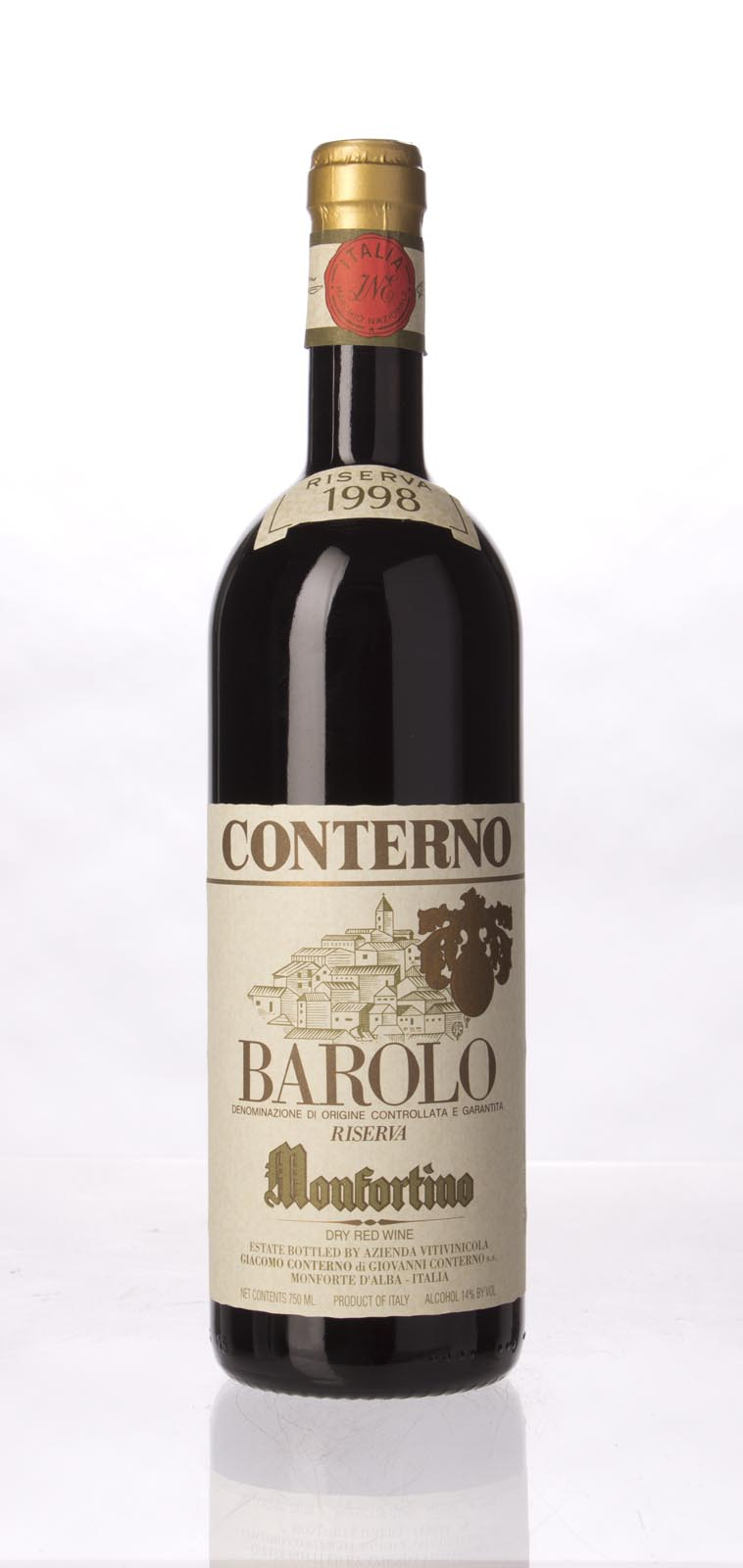 Giacomo Conterno Barolo Monfortino Riserva 1998, 750mL (WA97) from The BPW - Merchants of rare and fine wines.