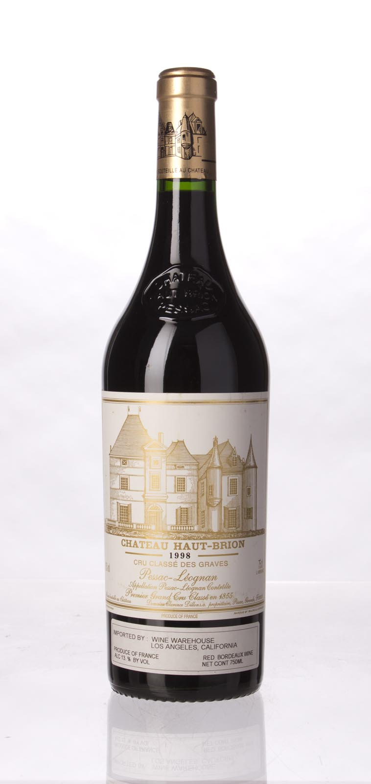 Haut Brion 1998, 750mL (WA96, WS97) from The BPW - Merchants of rare and fine wines.