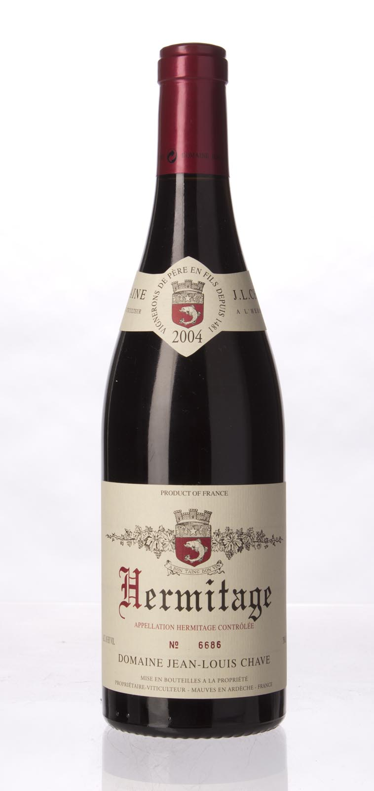 J.L. Chave Hermitage 2004, 750mL (WA94, ST95-96, WS95) from The BPW - Merchants of rare and fine wines.