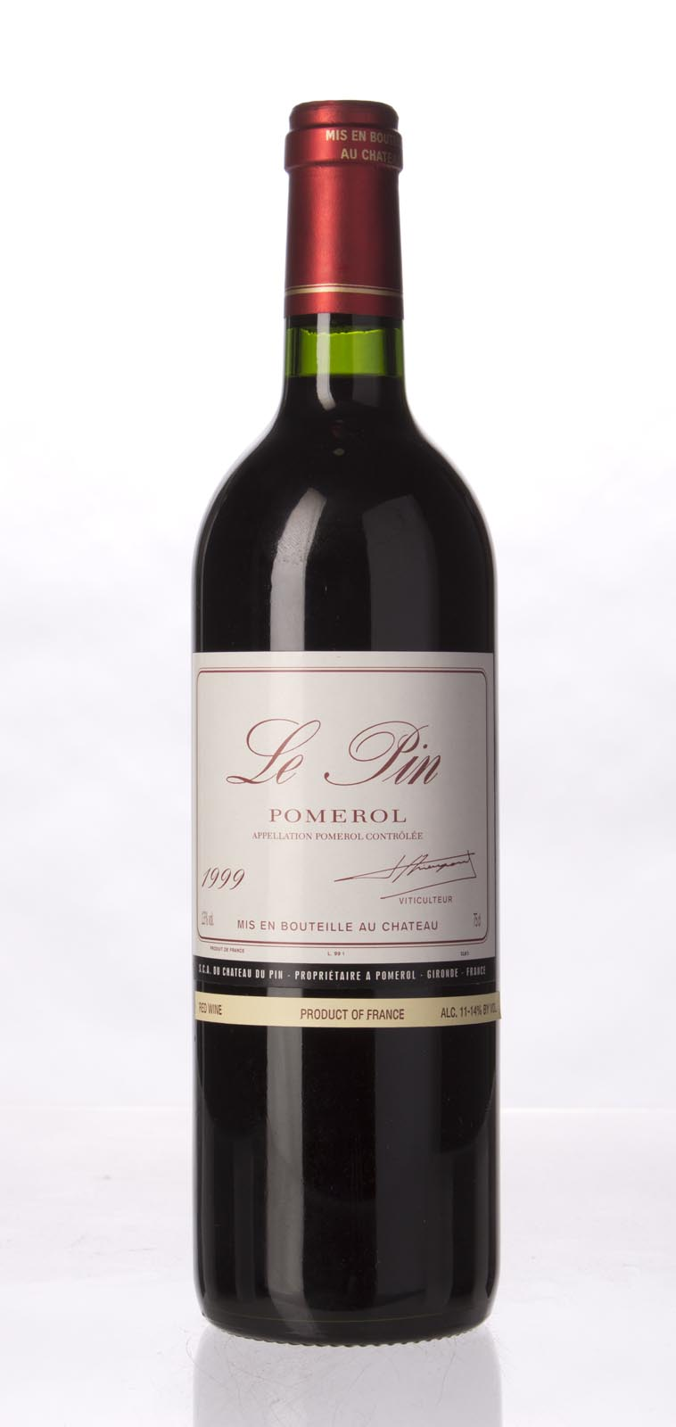 Le Pin 1999, 750mL (WA93, ST92-94, WS91) from The BPW - Merchants of rare and fine wines.