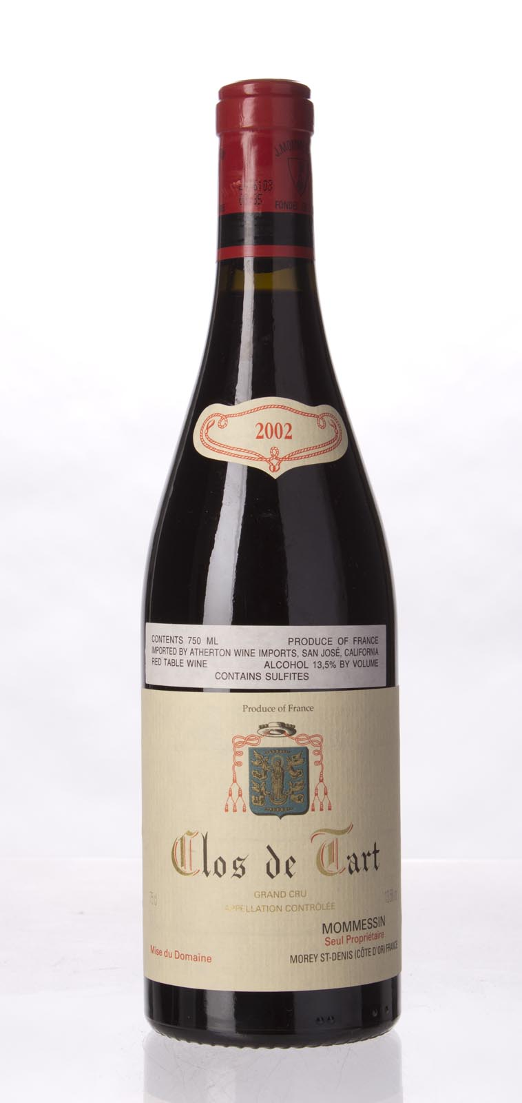 Mommessin Clos de Tart 2002, 750mL (BH93, WA94-96, ST95, WS93) from The BPW - Merchants of rare and fine wines.