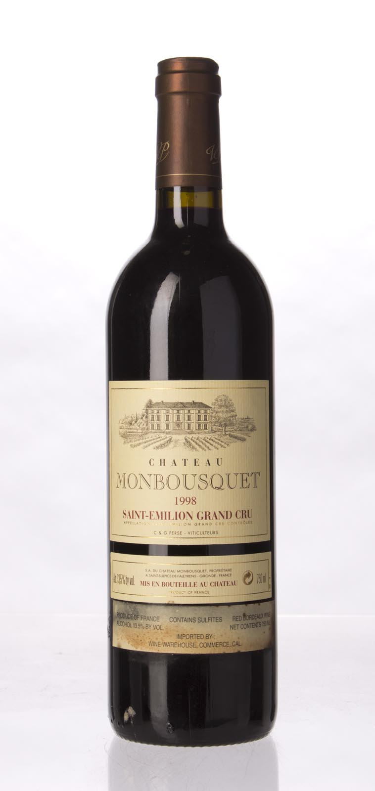 Monbousquet 1998, 750mL (WA94, WS93) from The BPW - Merchants of rare and fine wines.