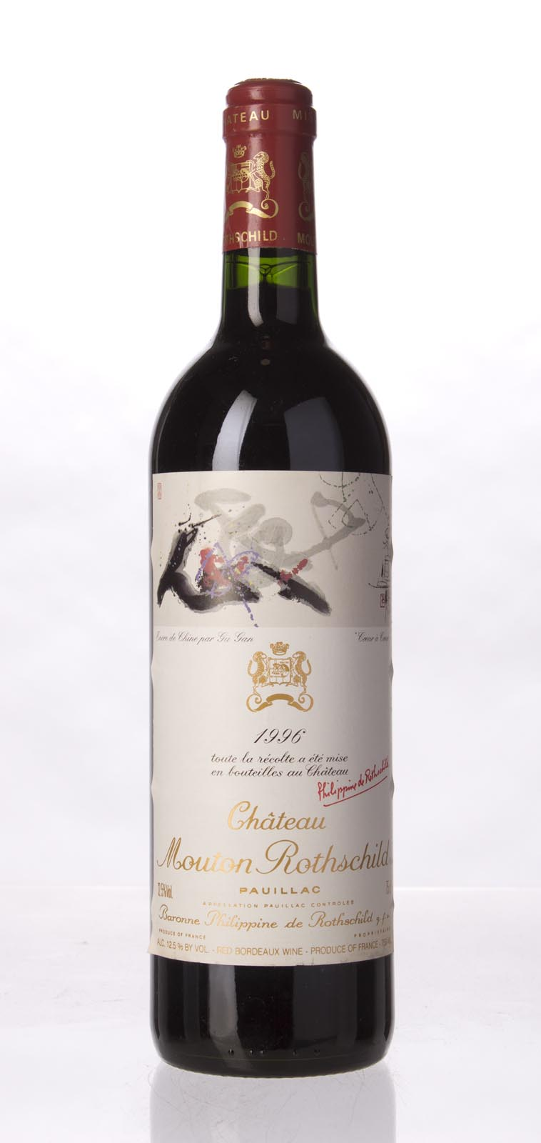 Mouton Rothschild 1996, 750mL (WA94, ST96, WS96) from The BPW - Merchants of rare and fine wines.