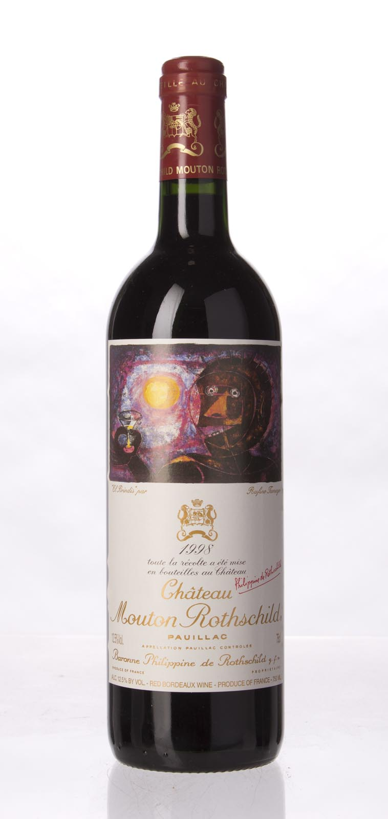 Mouton Rothschild 1998, 750mL (WA96) from The BPW - Merchants of rare and fine wines.