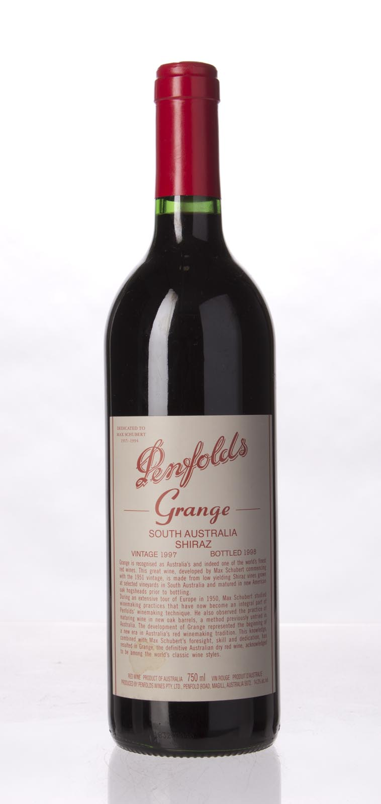 Penfolds Grange Shiraz 1997, 750mL (WA94) from The BPW - Merchants of rare and fine wines.