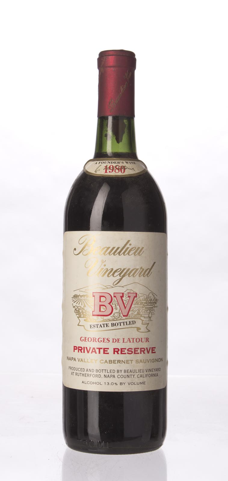 Beaulieu Vineyard Cabernet Sauvignon Private Reserve Georges de Latour 1980, 750mL (WS93) from The BPW - Merchants of rare and fine wines.