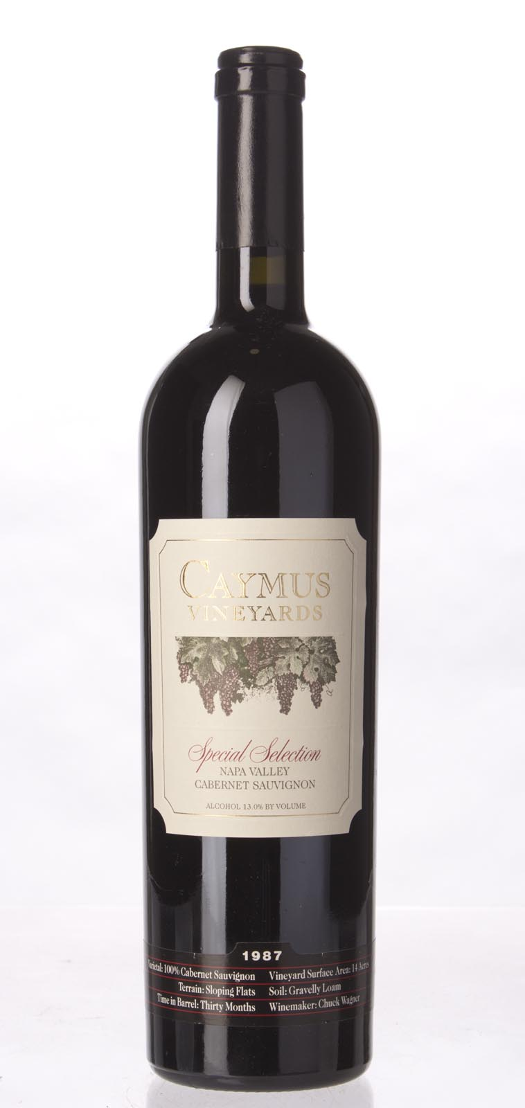 Caymus Cabernet Sauvignon Special Selection 1987, 750mL (WS98) from The BPW - Merchants of rare and fine wines.