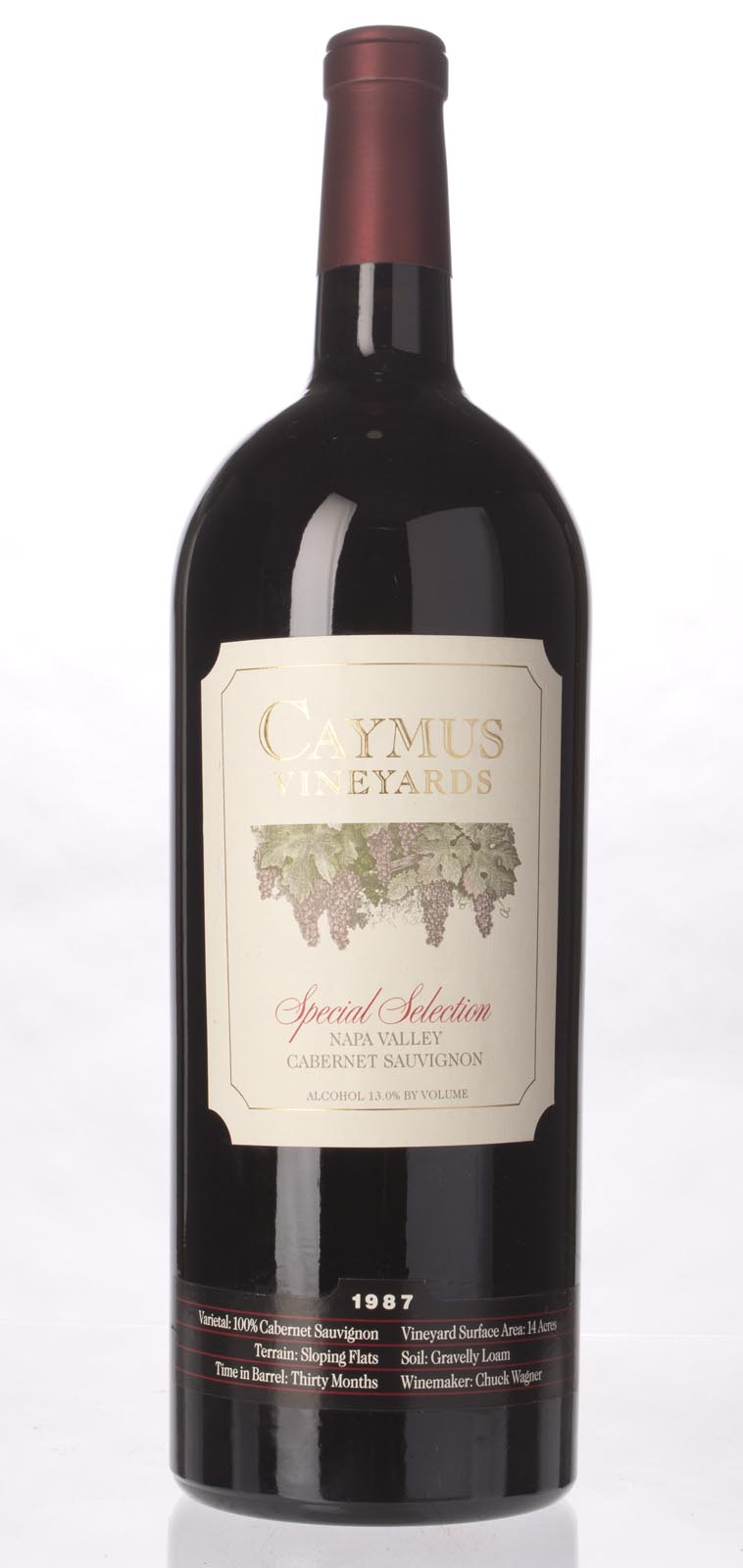 Caymus Cabernet Sauvignon Special Selection 1987, 3L (WS98) from The BPW - Merchants of rare and fine wines.
