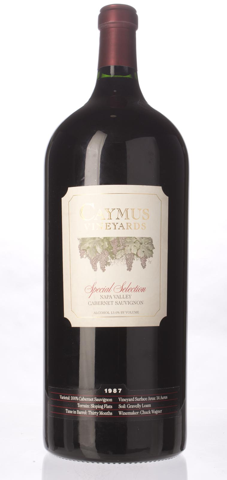 Caymus Cabernet Sauvignon Special Selection 1987, 6L (WS98) from The BPW - Merchants of rare and fine wines.