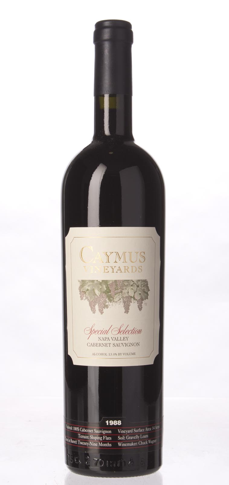 Caymus Cabernet Sauvignon Special Selection 1988, 750mL (WS94) from The BPW - Merchants of rare and fine wines.