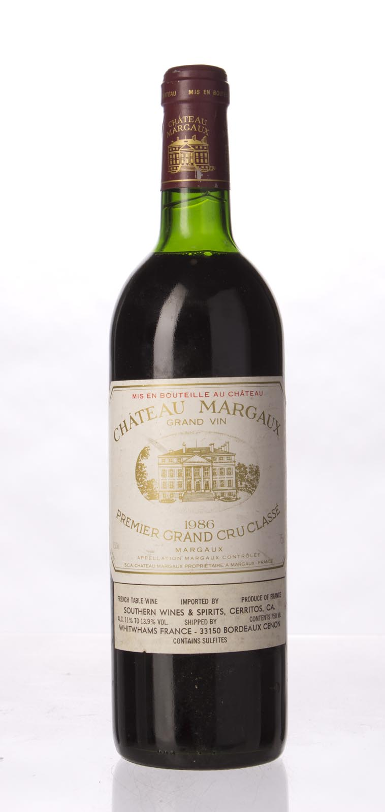 Chateau Margaux 1986, 750mL (WA96, WS98) from The BPW - Merchants of rare and fine wines.