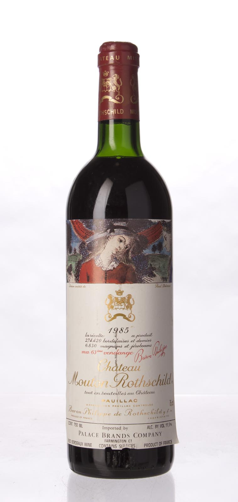 Mouton Rothschild 1985, 750mL (WS96) from The BPW - Merchants of rare and fine wines.