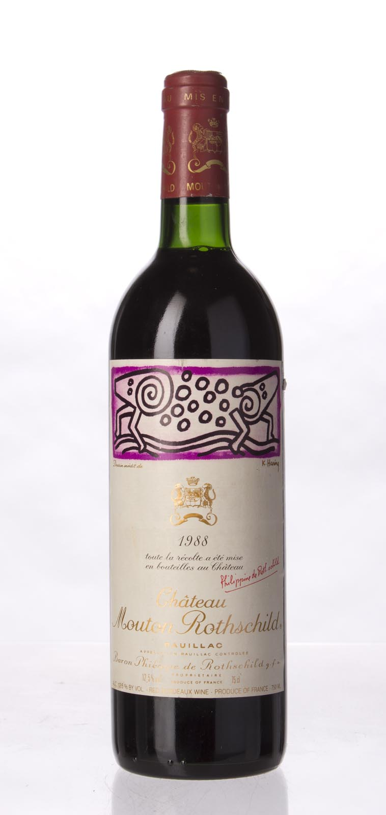Mouton Rothschild 1988, 750mL (WS100) from The BPW - Merchants of rare and fine wines.