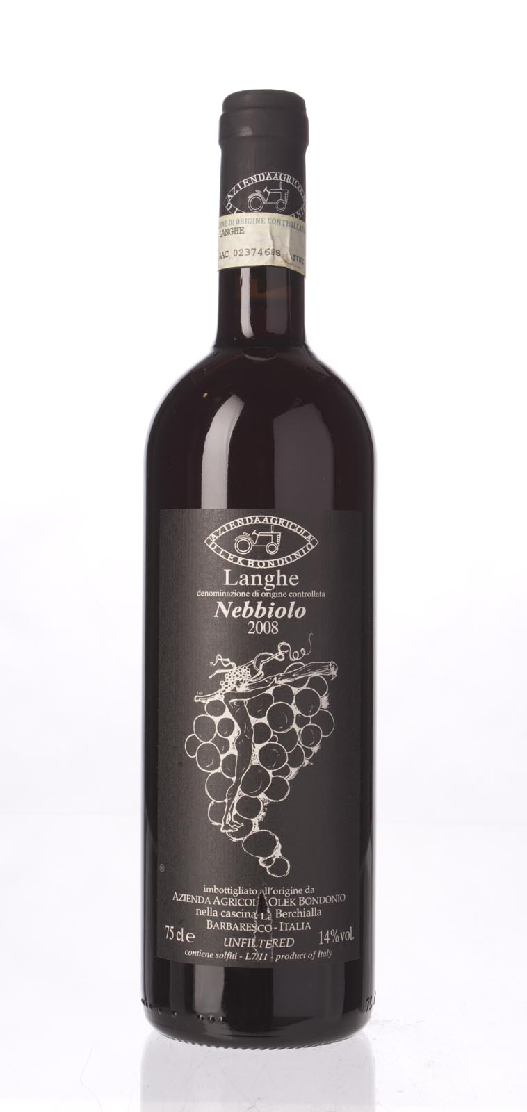 Olek Bondonio Nebbiolo Langhe 2008, 750ml () from The BPW - Merchants of rare and fine wines.