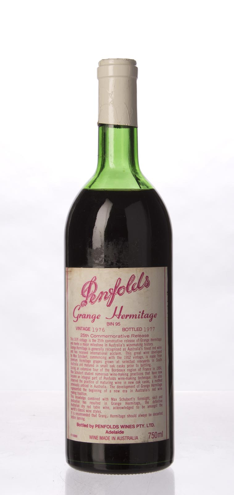 Penfolds Grange Shiraz 1976, 750mL (WA100) from The BPW - Merchants of rare and fine wines.